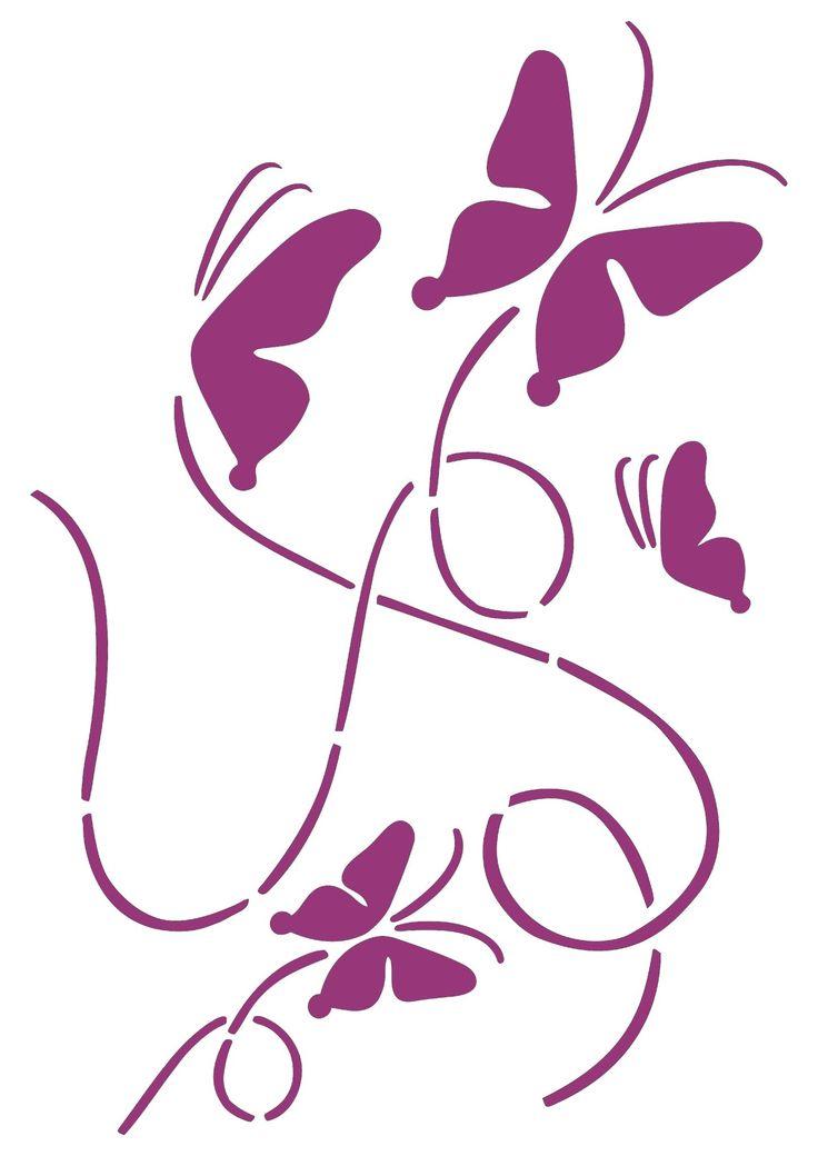 7018 best silhouettes stencils images on pinterest stencil stencils and stencil templates - Silhouette papillon imprimer ...