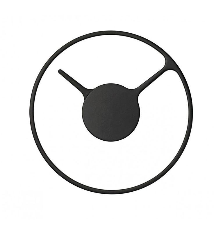 Zegar ścienny Stelton - czarny, rozmiar M