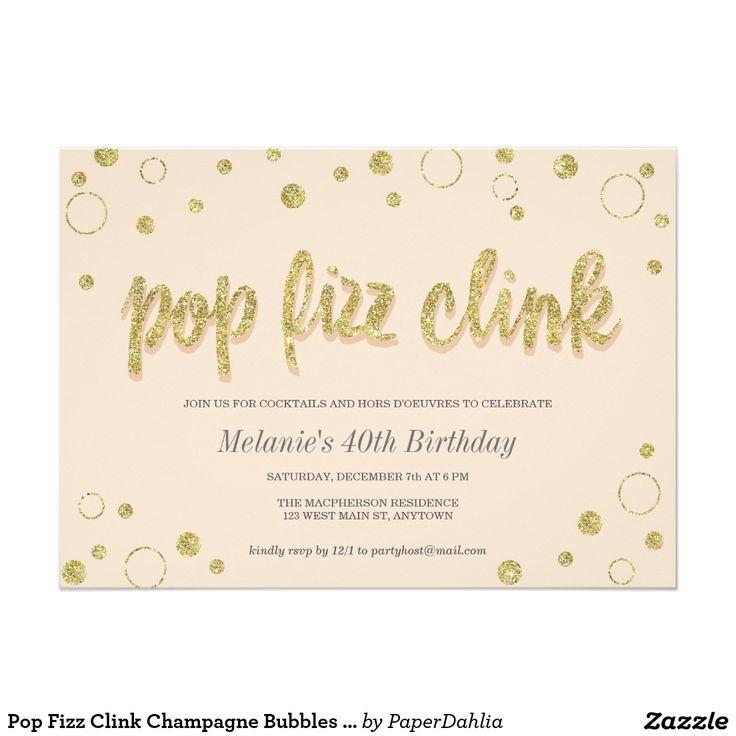11 best brunch invitations images on pinterest brunch pop fizz clink champagne bubbles party invites stopboris Gallery