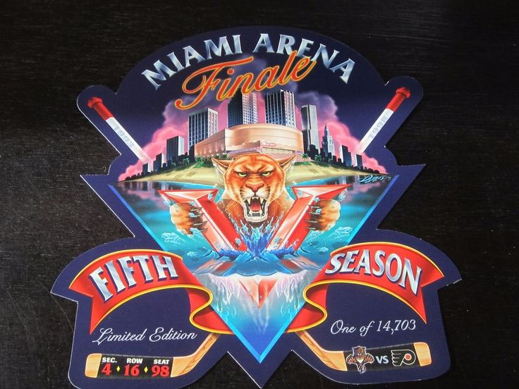 Florida Panthers vs Philadelphia Flyers 4/16/1998 Commemorative ticket giveaway #ticket