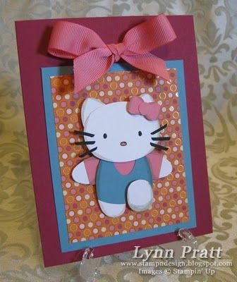 Hello Kitty - Punch Art: Demo Friends, Hello Kitty Punch Art, Kitty Fans, Stamps N Design, Cardspunch Art, Punchart, Cards Punch Art, Paper Crafts, Cards Kids