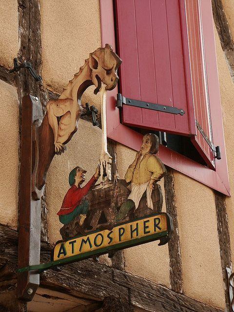 est-ce qu'il a une gueule...? | by isapou1 Restaurant sign France