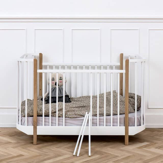 Oliver Furniture Babybett Kinderbett Wood Collection Eiche 70x140 cm - Engel & Bengel