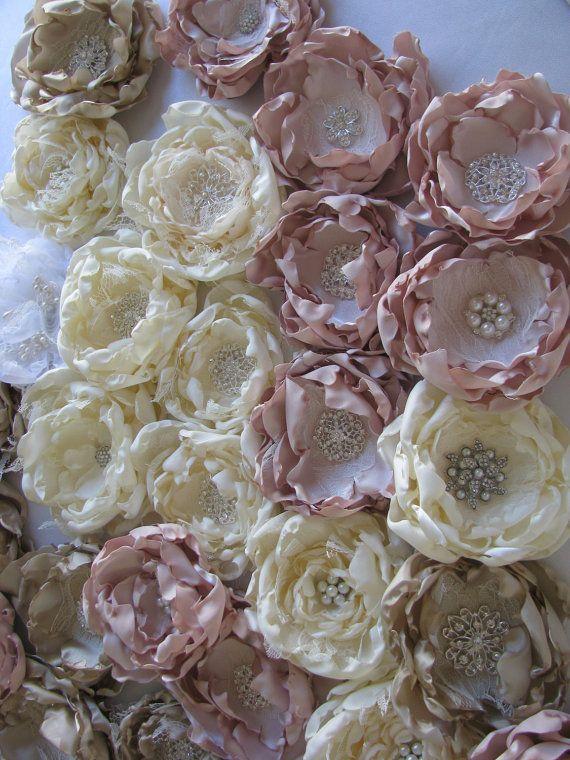 Runde Stoff satin Rosen Großhandel DIY Brosche Bouquet, billige chiffon Rosen