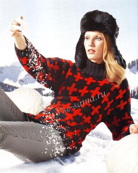 Черно красные свитера