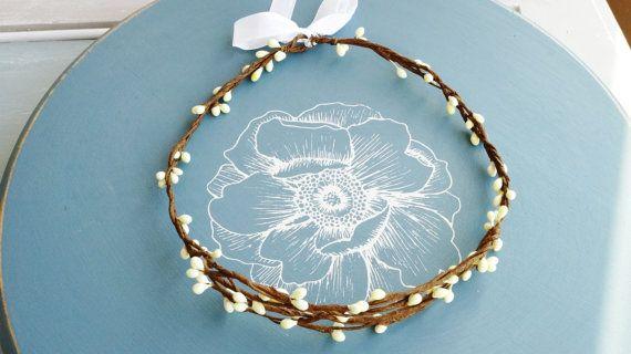 Posie's Pretties. pip braided branch floral crown. by PosieMeadows