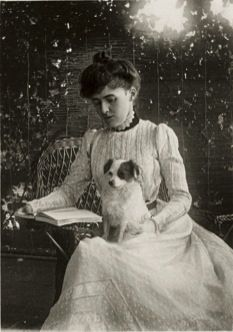 """Edith Wharton and her dog...wrote one of my personal favorites """"Age of Innocence"""""""