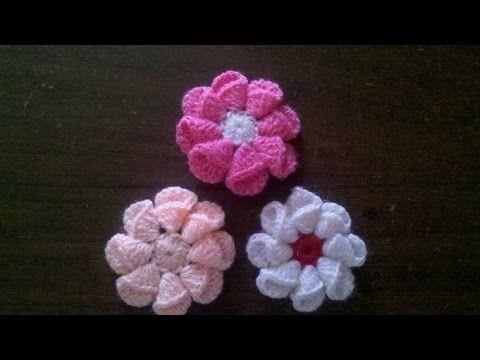 Blog Acrochet - Una flor sencilla de cartuchos - Gisella Kamiche - YouTube