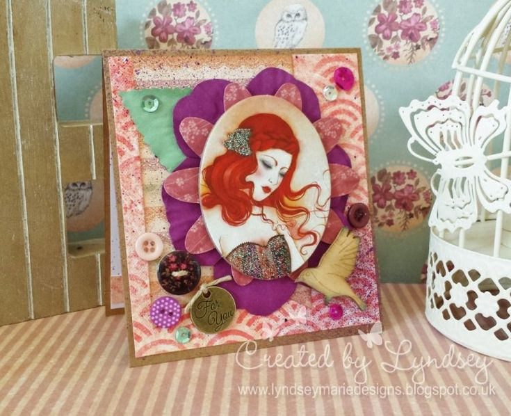 SANTORO'S Willow Aurora Blooms card by Lyndsey our new design team member