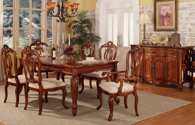 Traditional Wood Dining Tables examples of dining room chair types & styles to inspire you