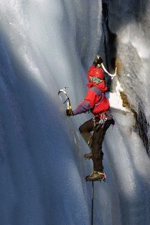 Ice Climbing with Peak High Mountaineering