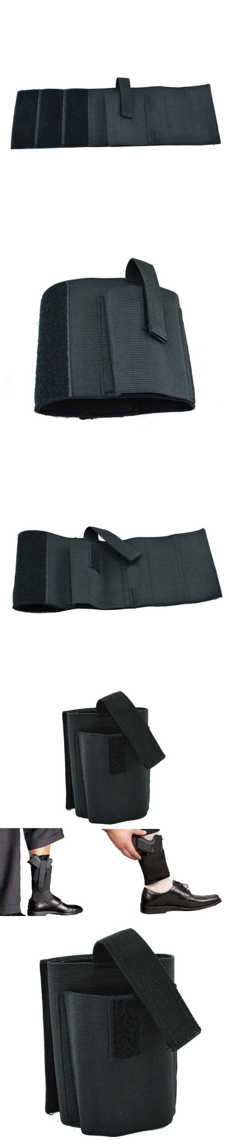 Concealed Universal Ankle Holster Carry Fits Ruger LC9 LCP Glock 42 43 36 26 S&W Bodyguard .380 .38 Similar Size Handgun