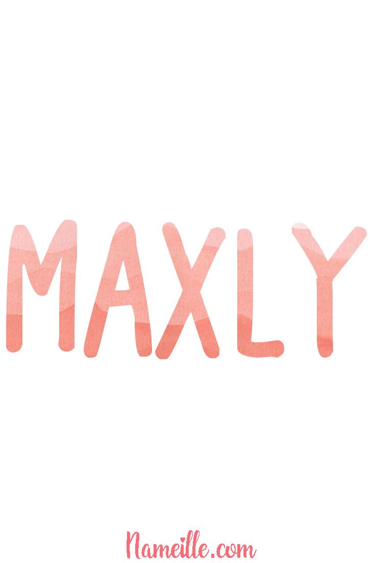 Gender Neutral Unisex Baby Names @ Nameille.com MAXLY