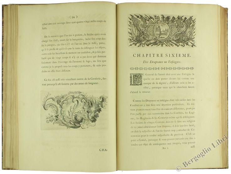 Uno degli studi più celebri di arte militare del secolo XVIII. LES REVERIES OU MEMOIRES SUR L'ART DE LA GUERRE DE MAURICE COMPTE DE SAXE Saxe Maurice, comte de De Bonneville. 1758 - Bergoglio Libri d'Epoca