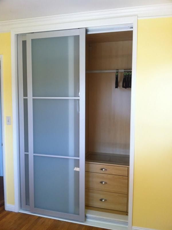 Closet With Built Ins   IKEA Hackers: Retrofitting A PAX Into A Closet.  Alternative To Ugly Wood Doors.