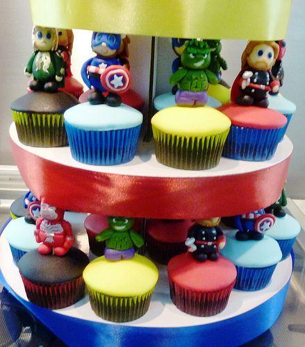 avengers cupcake tower