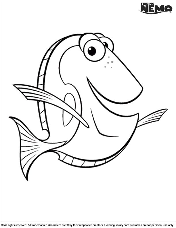 46 best dory school images on Pinterest | Finding nemo coloring ...
