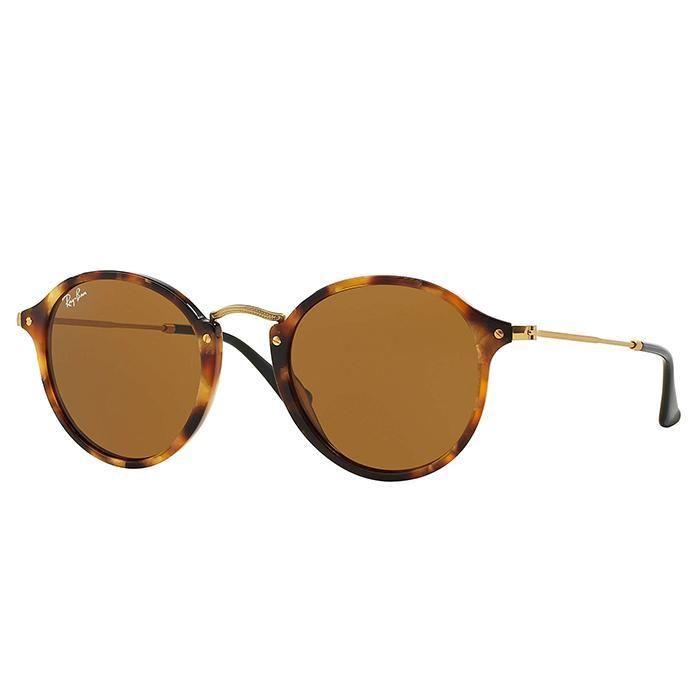 Occhiali da sole ray ban tartarugati lenti marroni RB 2447 Ray-ban round  fleck color tartaruga nuovo design con cerchi in acetato e finiture dorate  sulle ...