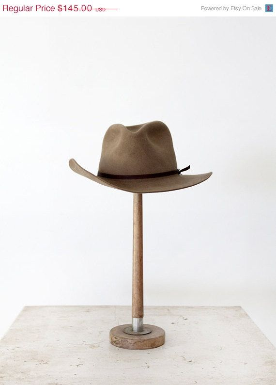 SALE Vintage Cowboy Hat / 60s Brown Beaver Hat by 86Vintage86, $123.25