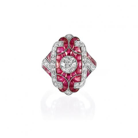 Platinum, Diamond and Ruby Ring for Sale at Auction on Wed, 04/13/2011 - 07:00  - Important Estate Jewelry | Doyle Auction House