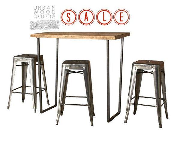 Brooklyn Bar Height Table by UrbanWoodGoods on Etsy, $844.00