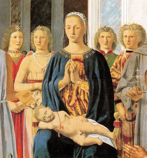 Piero della Francesca Montefeltro Altarpiece (detail) 1472-74