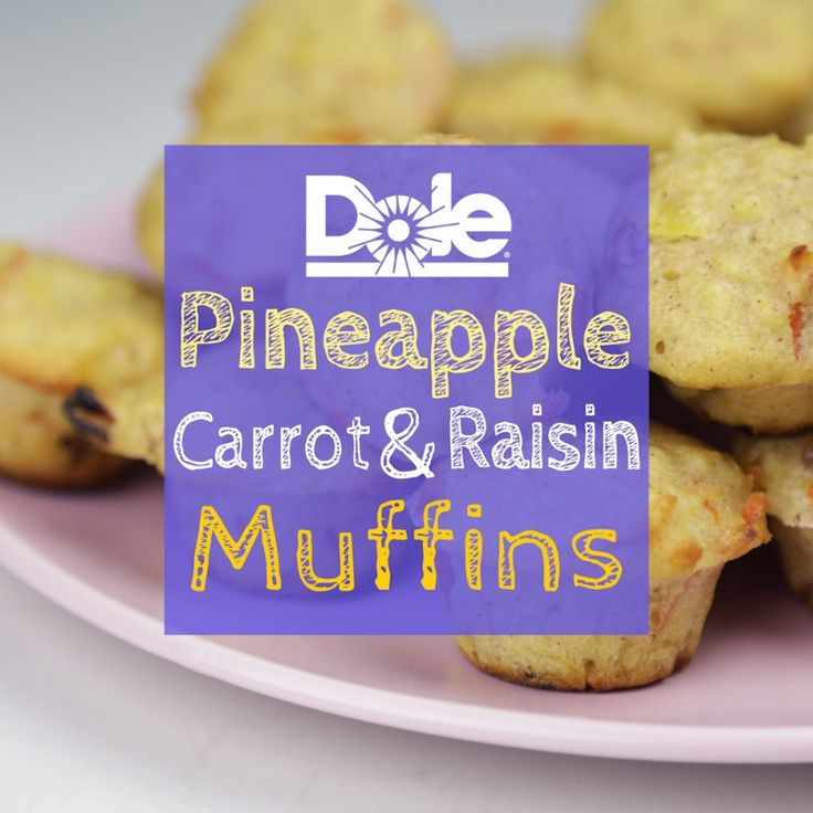 Hello Pineapple Carrot Raisin Muffins, it's so good to meet you! Made with Dole Canned Crushed Pineapple, these warm, soft and buttery muffins are pure comforting goodness!