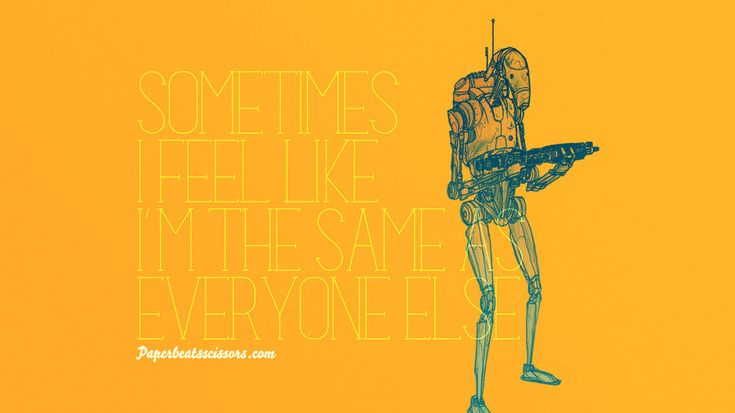 Droid Feelings: Battle Droid by paperbeatsscissors.deviantart.comStarwars