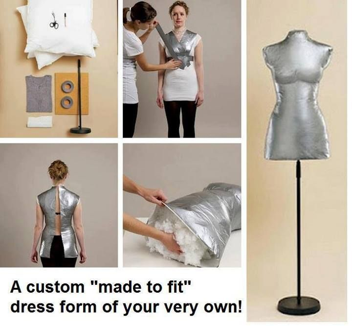 How to make a dress form for your own size! (Note of warning -- you will need a friend!)
