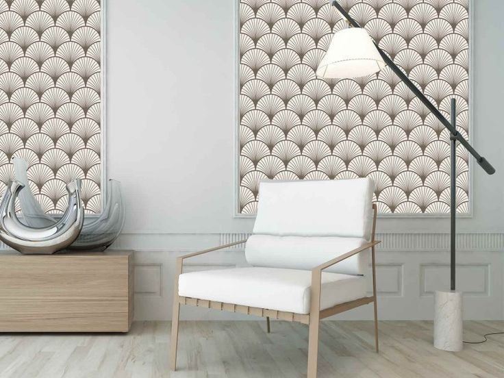 papier peint de cr ateur compos de motifs japonais seigaiha beige et ivoire voquant des. Black Bedroom Furniture Sets. Home Design Ideas