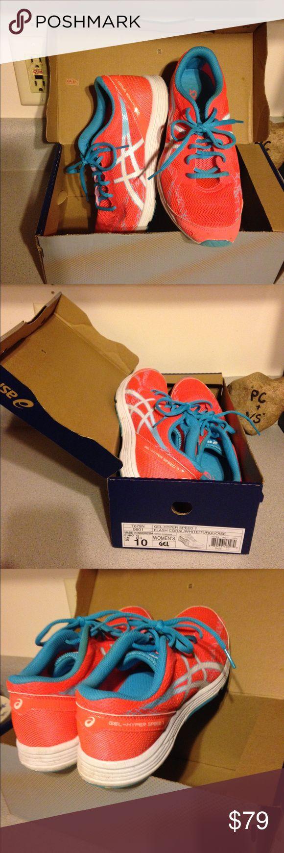 NEW Asics Hyper Speed Coral Running Sneakers NEW IN BOX Asics Gel Hyper Speed 7 Flash
