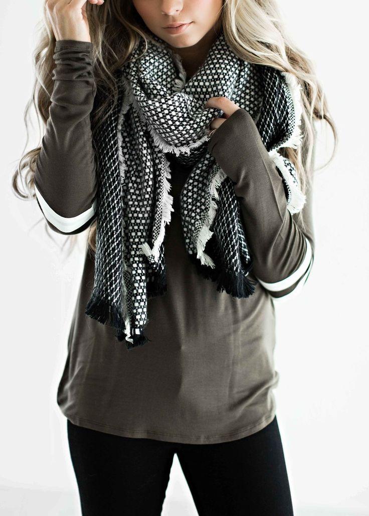 tweed scarf, scarf, blanket scarf, winter scarf, fashion, style