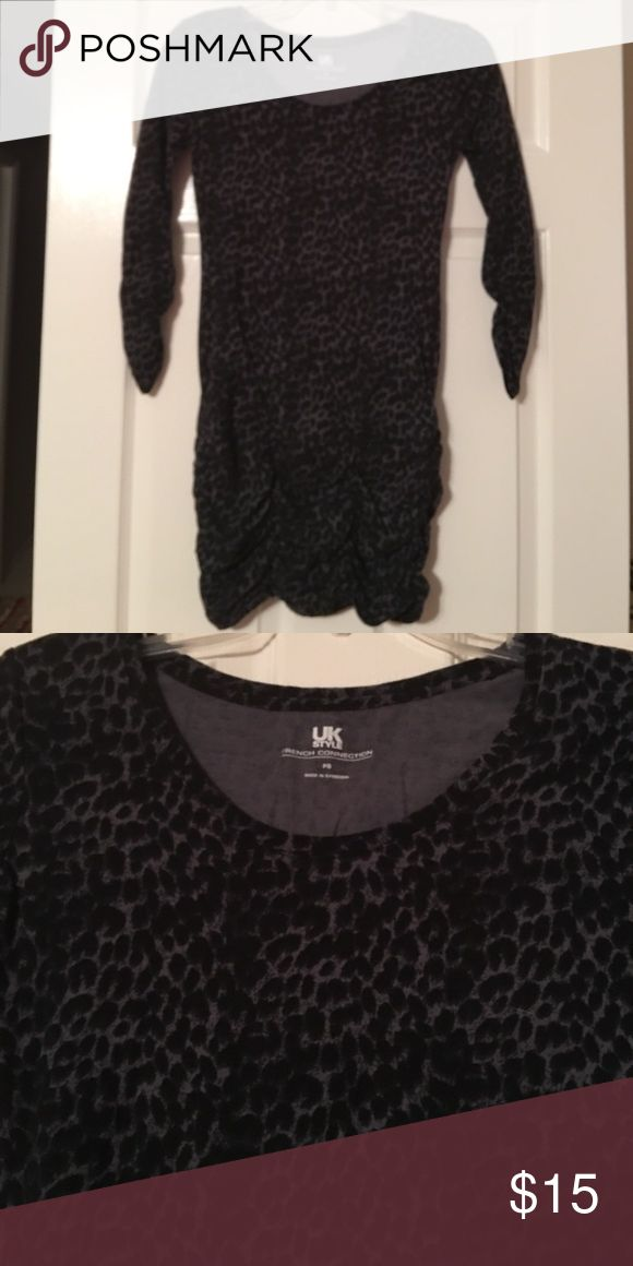 French connection animal print top Worn once. Sexy with leggings this beautiful animal print top is a must have French Connection Tops