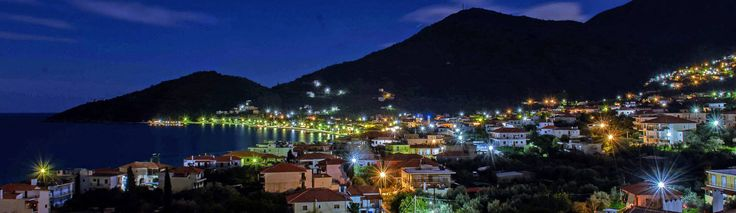 An amazing panoramic night view from Tyros Peloponnese Greece.