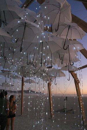 Love this installation/April Showers bring May flowers/Baby Shower etc. etc.