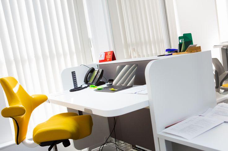 Delivering furniture perfection! HÅG Capisco in yellow at BHP #InspireGreatWork #design #Scandinavian