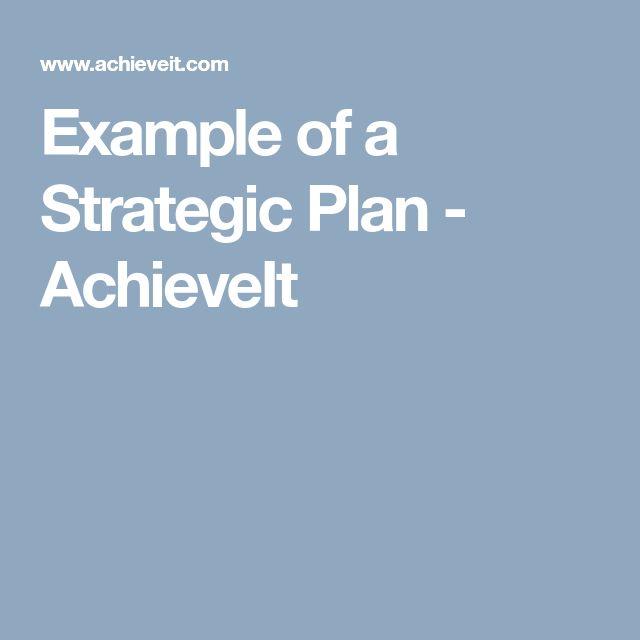 As 25 melhores ideias de Example of business plan no Pinterest - strategic plan example