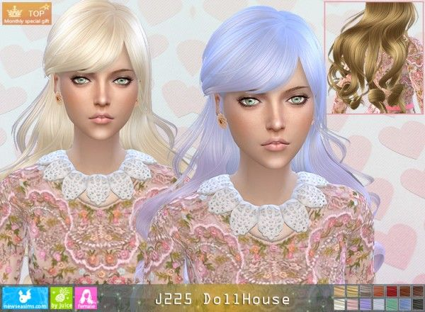 NewSea: J225 DollHouse donation hairstyle • Sims 4 Downloads