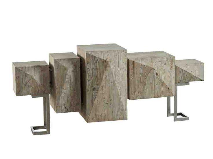 DIALMA BROWN. Credenza (DB004007) a cinque ante realizzata in legno vecchio di pino. Prezzo al pubblico: € 3.980