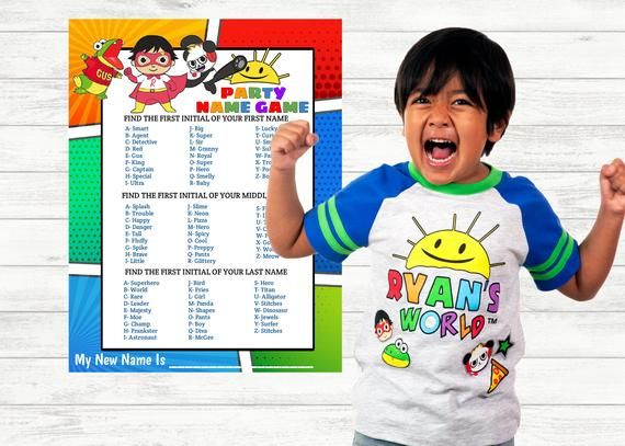Ryan S World Birthday Party Game Ryans Toy Review Birthdaqqql11y Mystery Playdate Digital Download Birthday Party Games Treasure Hunt Birthday Ryan Toys