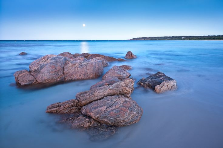 Bunker Bay Moonrise, Dunsborough. Western Australia - Luke Austin Soulscape Photography