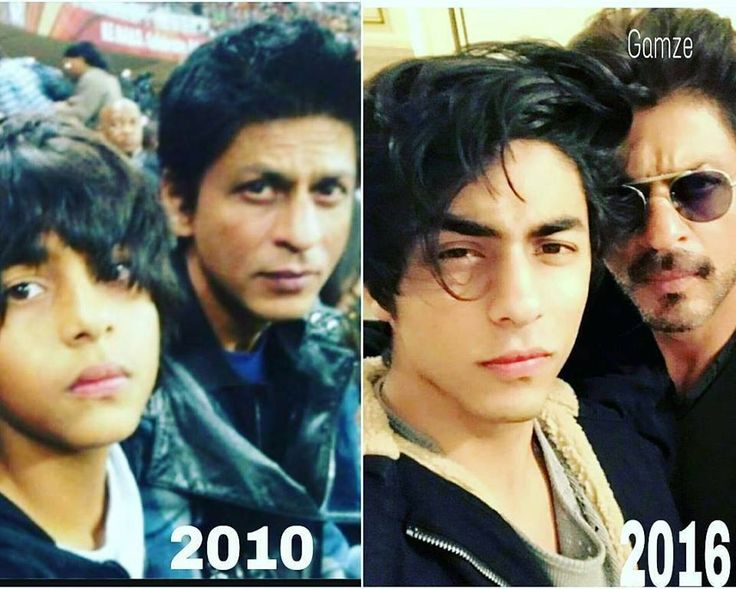 Aryan and papa, then and now