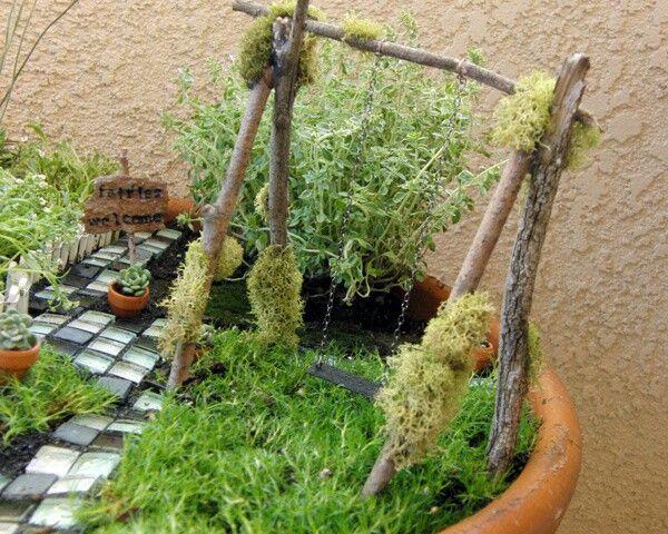 Die besten 17 bilder zu minigarten auf pinterest g rten - Miniatur gartenmobel ...