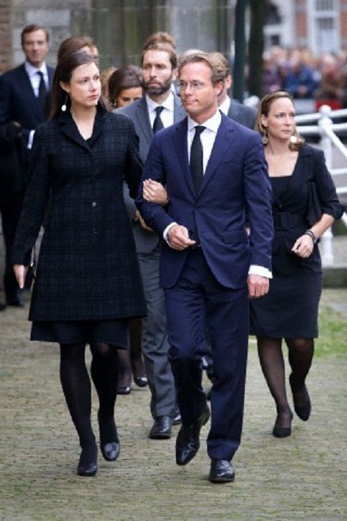 Prince Jaime and Princess Viktoria de Bourbon de Parme arrive at the Old Church in Delft, The Netherlands, for the memorial of Prince Friso, 02.11.13.