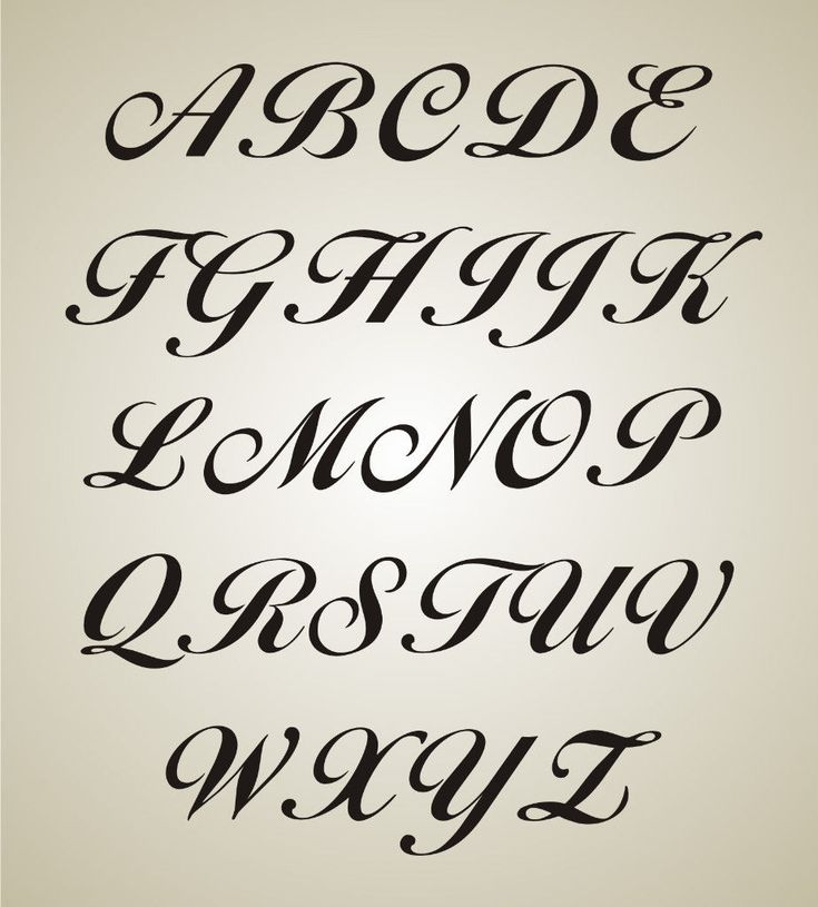 Fancy Letter L Fancy Letter Stencils Tattoo Fonts