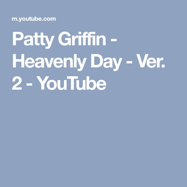 Patty Griffin - Heavenly Day - Ver. 2 - YouTube