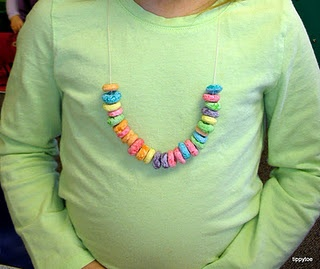 fruit loop cereal necklace...do with patterning activity