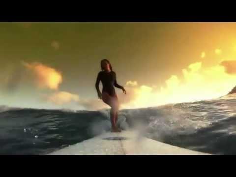Красивые серфингистки под дабстеп