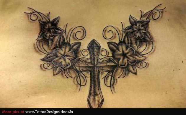 Religious Cross Tattoos for Women   Tatto design of Religious Tattoos cross - TattooDesignsIdeas.in
