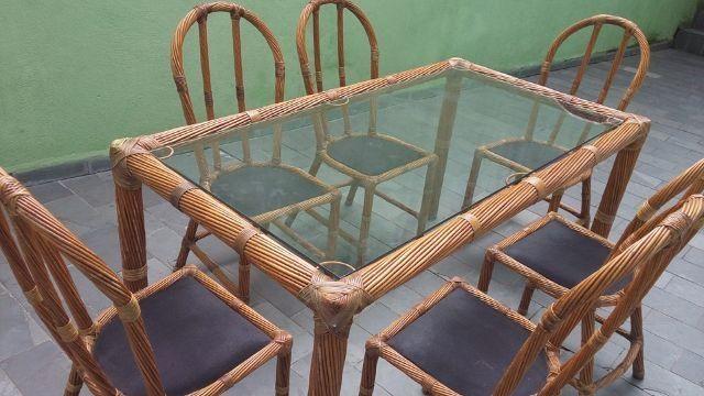 Mesa de Bambu artesanato